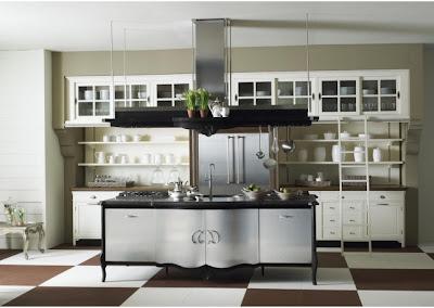 Trendoffice interior design ideas retro kitchen with a - Cucina stile vintage ...