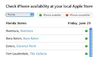 apple has added in an inventory checker to their website it allows you to choose your state and shows which stores have iphones in stock green and which