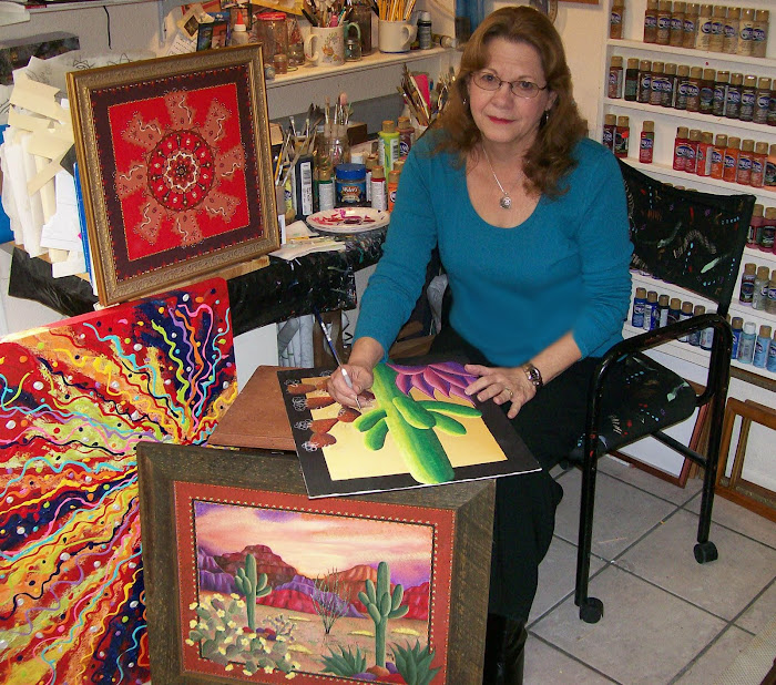 "Whimsical Works of Art by  Artist Pam Davidson  AKA ""The Dot Lady"""