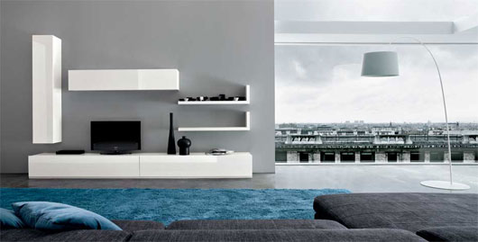 Decorating Minimalist Living Room Concept (By Dall