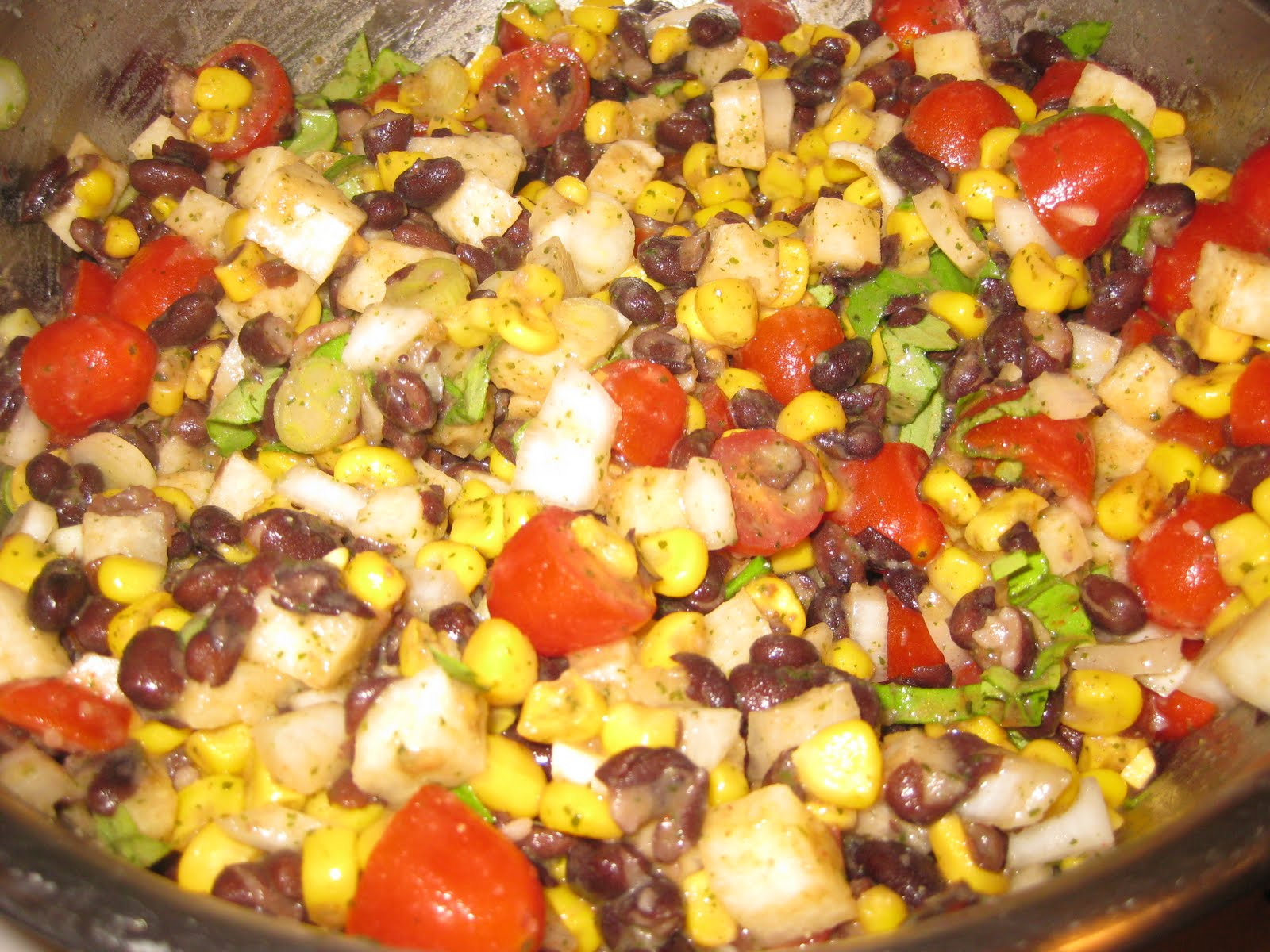 The Full Plate Blog: Black Bean, Corn & Jicama Salad