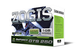 PLACA DE VIDEO ZOGIS GEFORCE GTS 250 1GB GDDR3 256 BITS