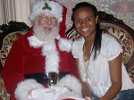 Angelina with Santa