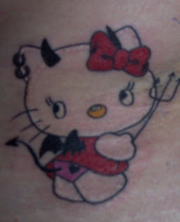 Evil Hello Kitty Tattoo
