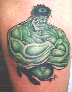 Cartoon Incredible Hulk Tattoo