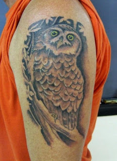 Arm Tattoo of an Owl