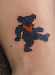 Blue Teddy Bear Tattoo Picture