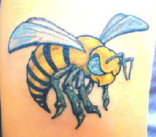 Full Color Hornet Tattoo