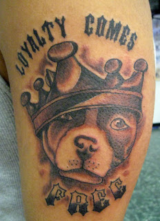 Loyalty Comes Free Dog Tattoo Design