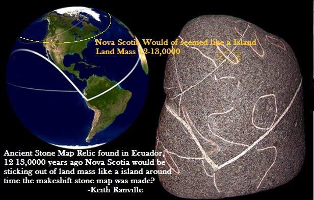 Oak island treasure mystery canadian journal of new research latest 120000 yearold stone treasure map gumiabroncs Choice Image