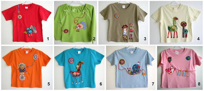 t.shirts em patchwork