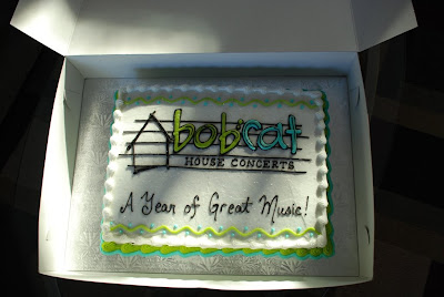 BobCat House Concerts' first anniversary cake