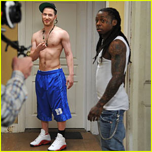 New video with lil wayne called bow chicka wow wow and a few shirtless