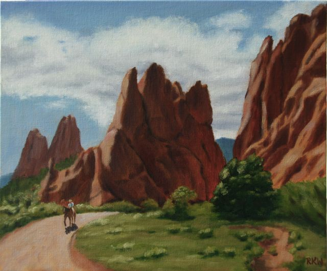 Rkw art lone horse rider garden of the gods park Garden of the gods horseback riding