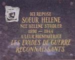 Plaque apposée par l'UNEG  en 1991 au cimetière de Belletanche, où repose desormais son corps