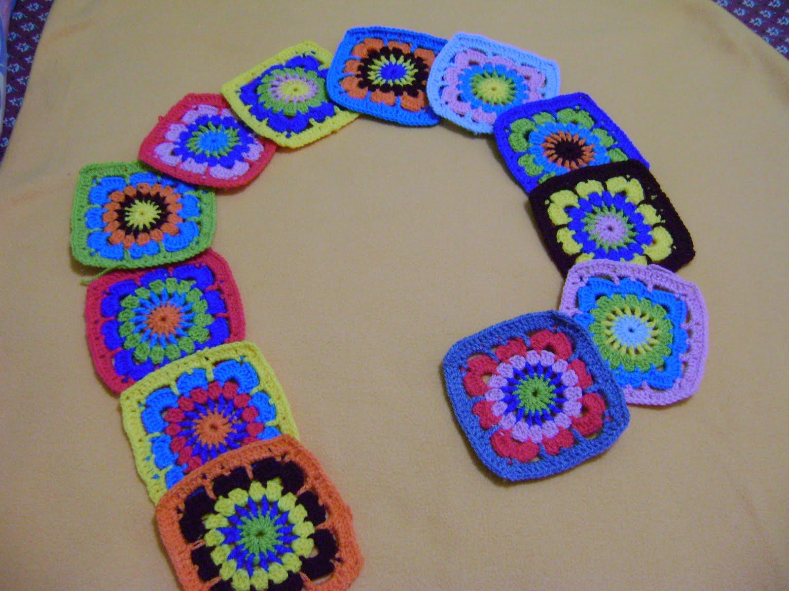 Arquintercambios y llegaron 12 cuadraditos argentinos - Cuadraditos de crochet ...