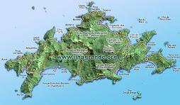 mapa da ilha grande - angra dos reis/rj