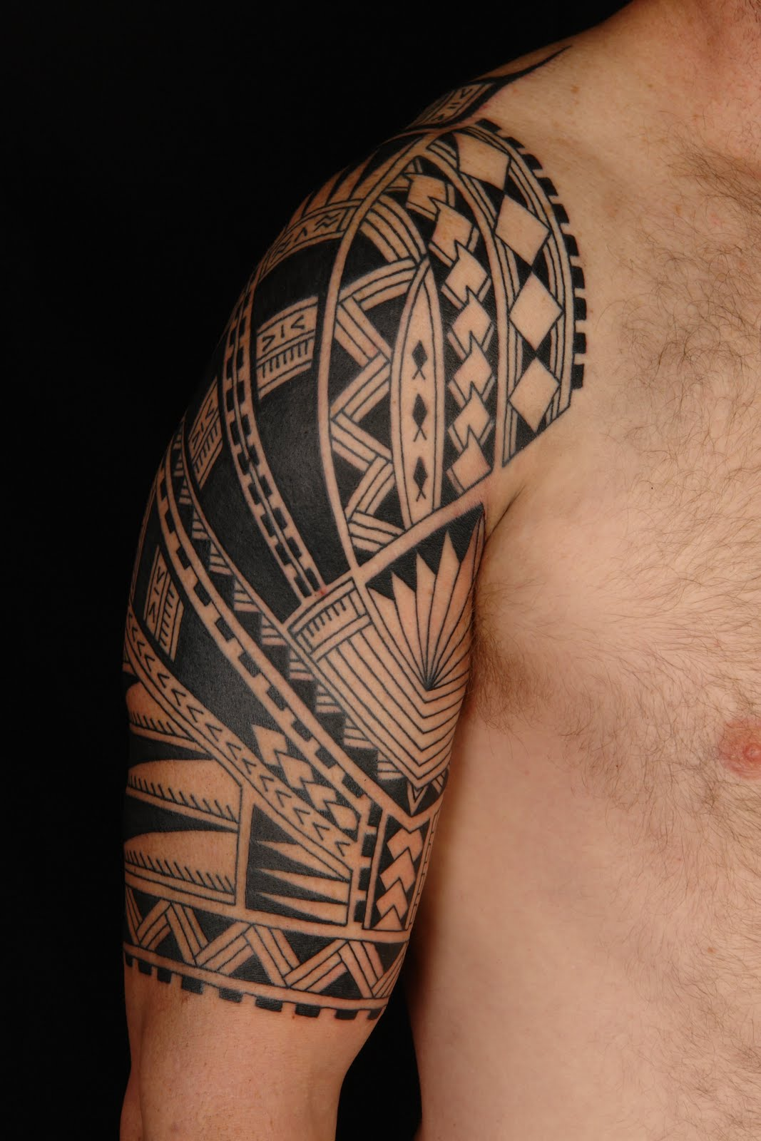 shane tattoos polynesian half sleeve on steve. Black Bedroom Furniture Sets. Home Design Ideas