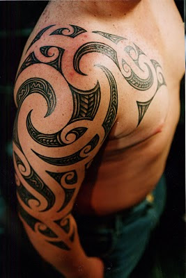 MAORI POLYNESIAN TATTOO: Maori Shoulder Chest Sleeve Tattoo