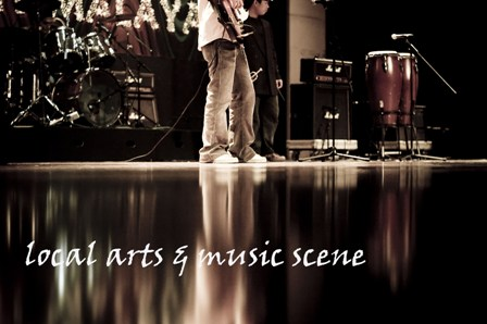 ..local arts and music scene..