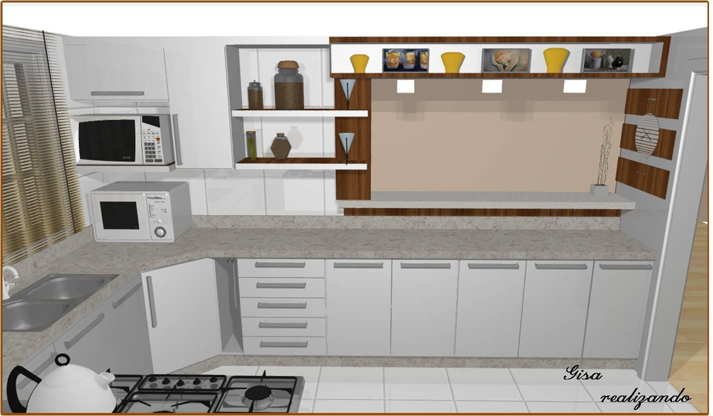 de fora da cozinha a bancada com luminárias e detalhes a parte de  #A68525 1424 832