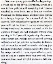 da Lettere a un poeta di R.M. RILKE