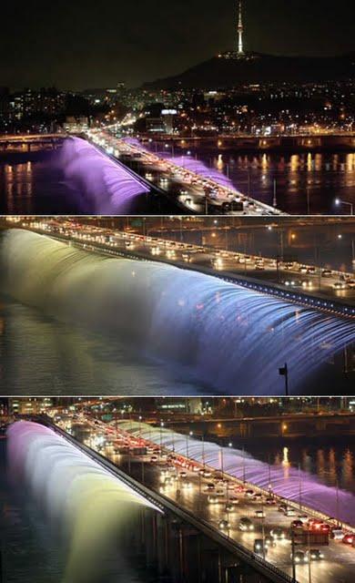 jembatan Banpo di Korea selatan