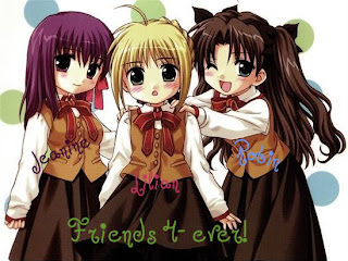 anime cartoons friendship ecards
