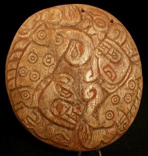 Chavin gilded shamanic llama bone pectoral
