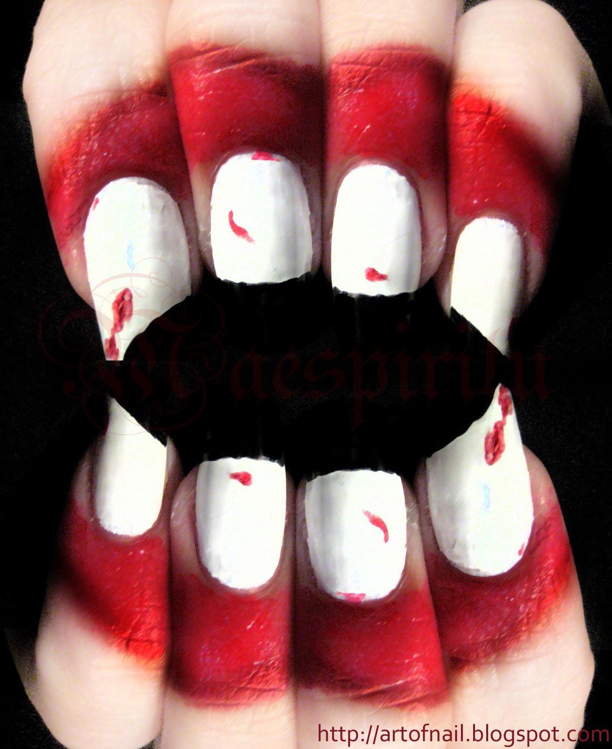 Nail Art Idea: halloween nail art kids