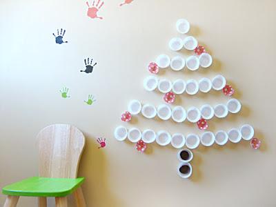 christmas crafts: christmas tree, christmas ornaments