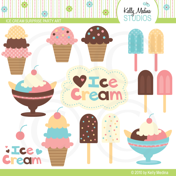 clip art ice cream party - photo #12
