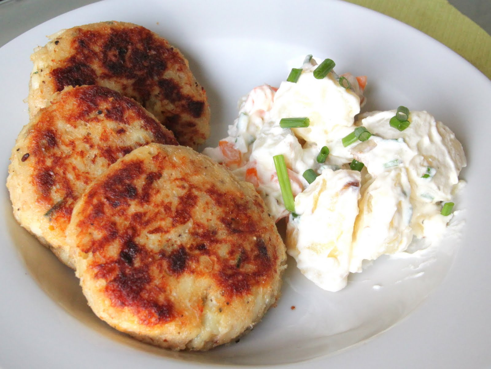 My Kitchen Antics Cod Fish Cakes With A Cold Potato Salad