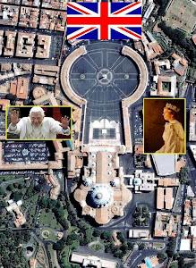 La bandera inglesa y el Vaticano usan los mismos símbolos illuminati, la doble cruz templaria.