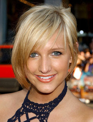 Celebrity short hairstyles. Side swept fringes