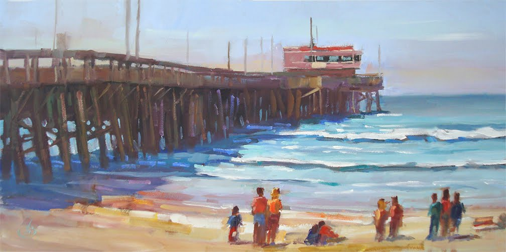 Tom brown fine art large california impressionist for Cox paint santa monica