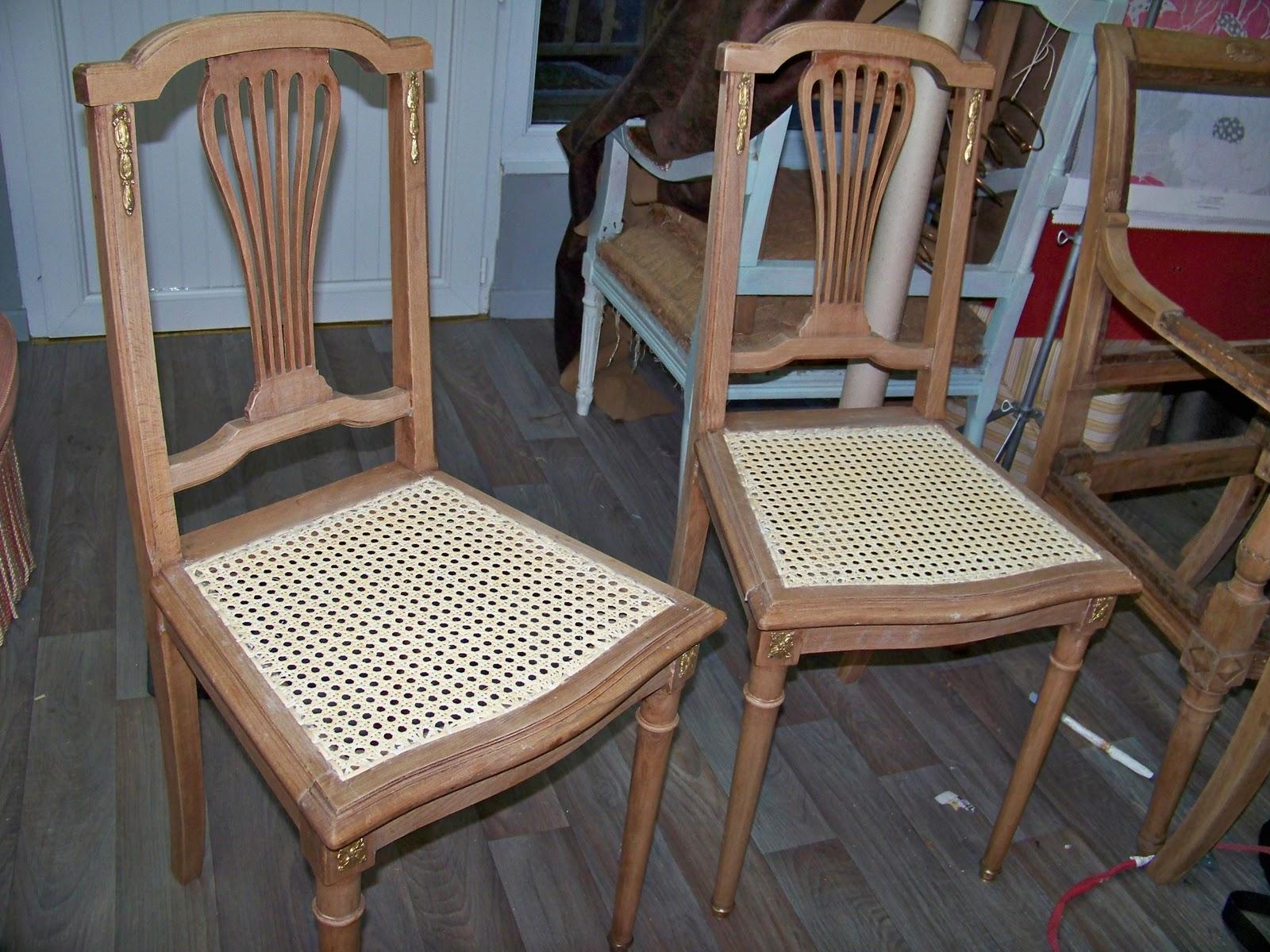 tapissier decorateur paire de chaises cann es. Black Bedroom Furniture Sets. Home Design Ideas