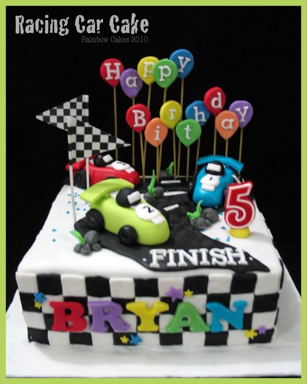 Birthday Cake Photos Racing Car : Sweet & Beauty: Racing Car Cake