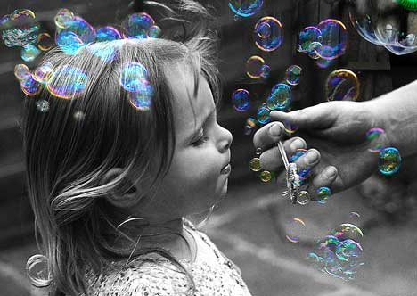 Amazing bubbles effect