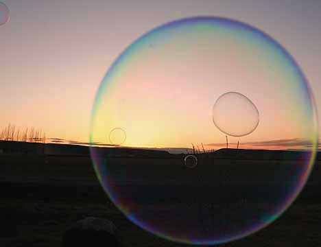 Bubbles Merging