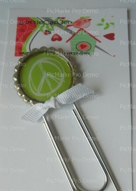 Bottlecapjen Bottle Cap Paper Clip Bookmarks