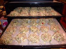 Mushroom- Zucchini Cakes
