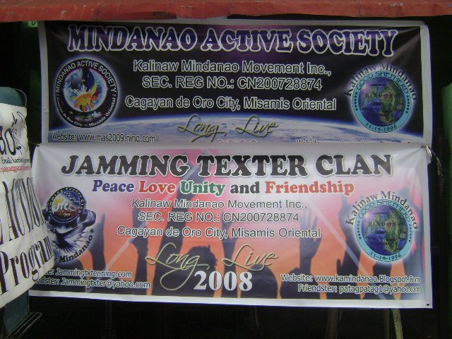 MAS and JTC Streamer during the Feeding and peace workshop  July 25,2010 at Brgy 27, Cagayan de Oro