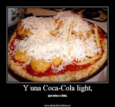 & una Coca-Cola light,