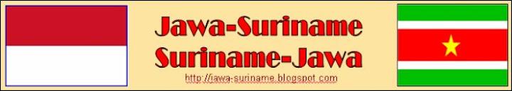 Jawa Suriname. Suriname Jawa