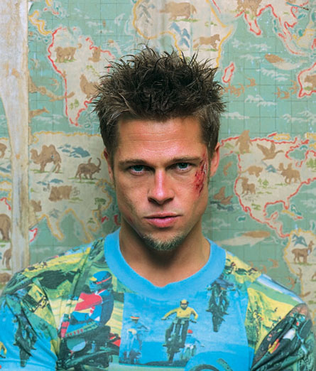 brad pitt ripped fight club. rad pitt hairstyles fight club. rad pitt fight club