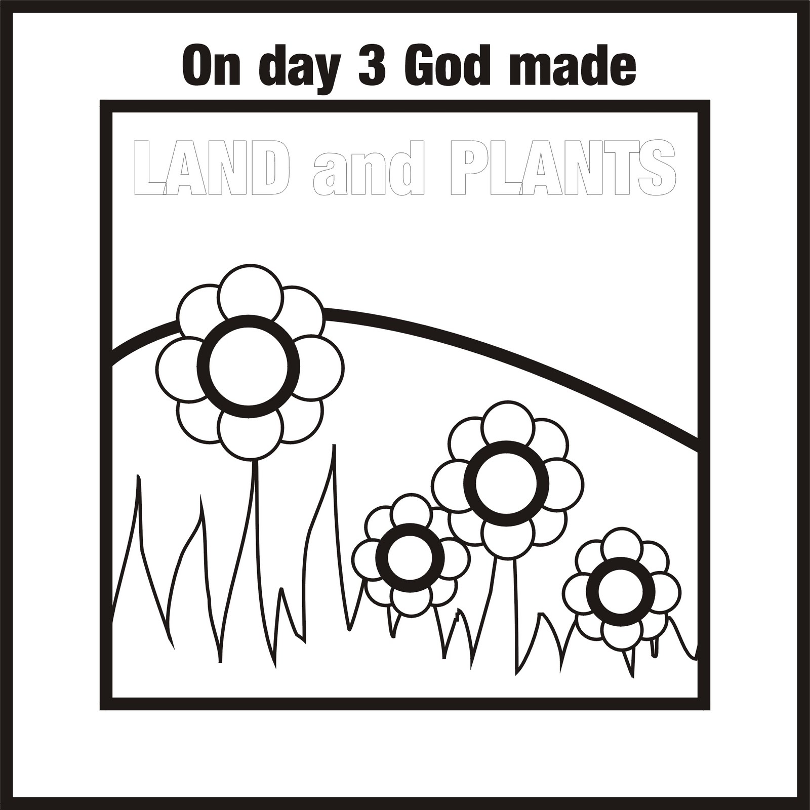 Free day 2 creation coloring pages