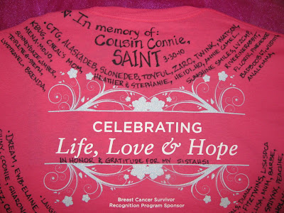 Breast cancer survivor, hope, breast cancer walk t-shirt