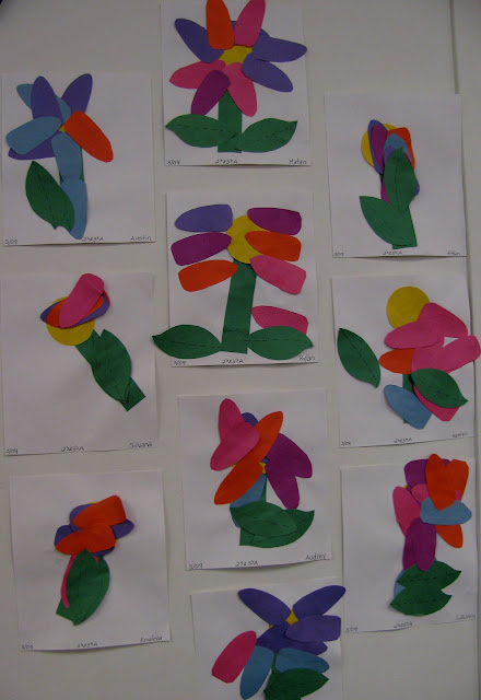 open-ended art for children, flowers for spring in children's art