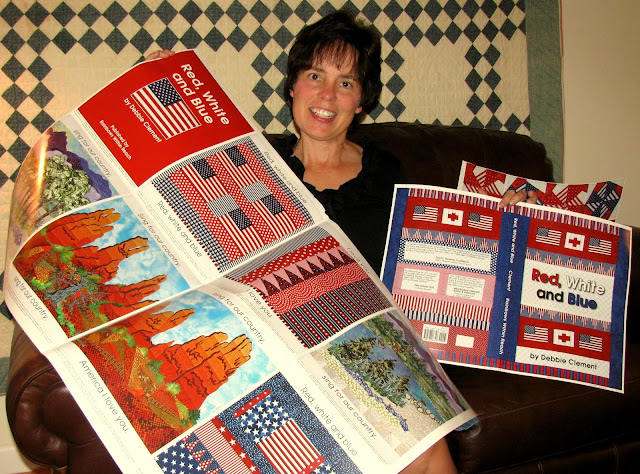 "photo of: Proof Sheets for picture book, ""Red, White and Blue"" by Debbie Clement"